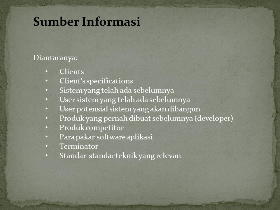 Sumber Informasi Diantaranya: Clients Client s specifications