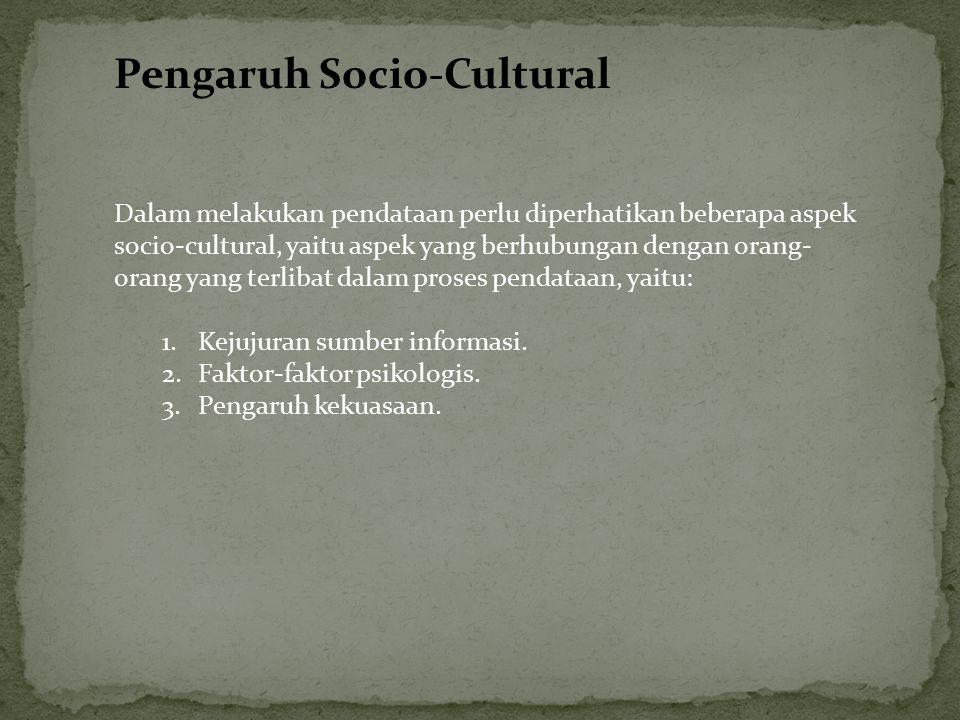 Pengaruh Socio-Cultural