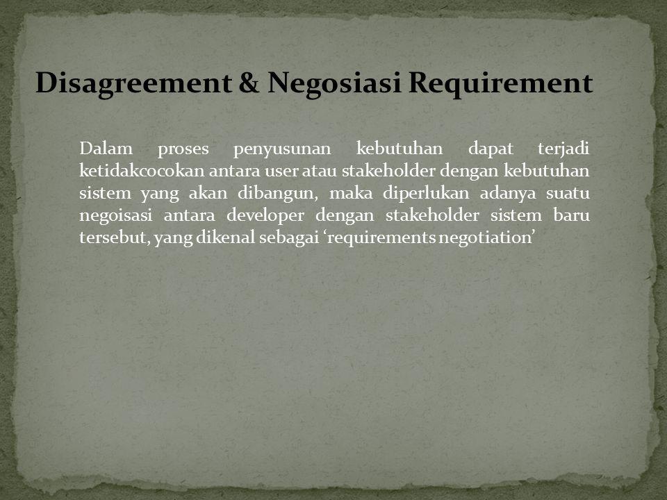 Disagreement & Negosiasi Requirement