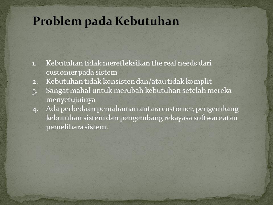 Problem pada Kebutuhan