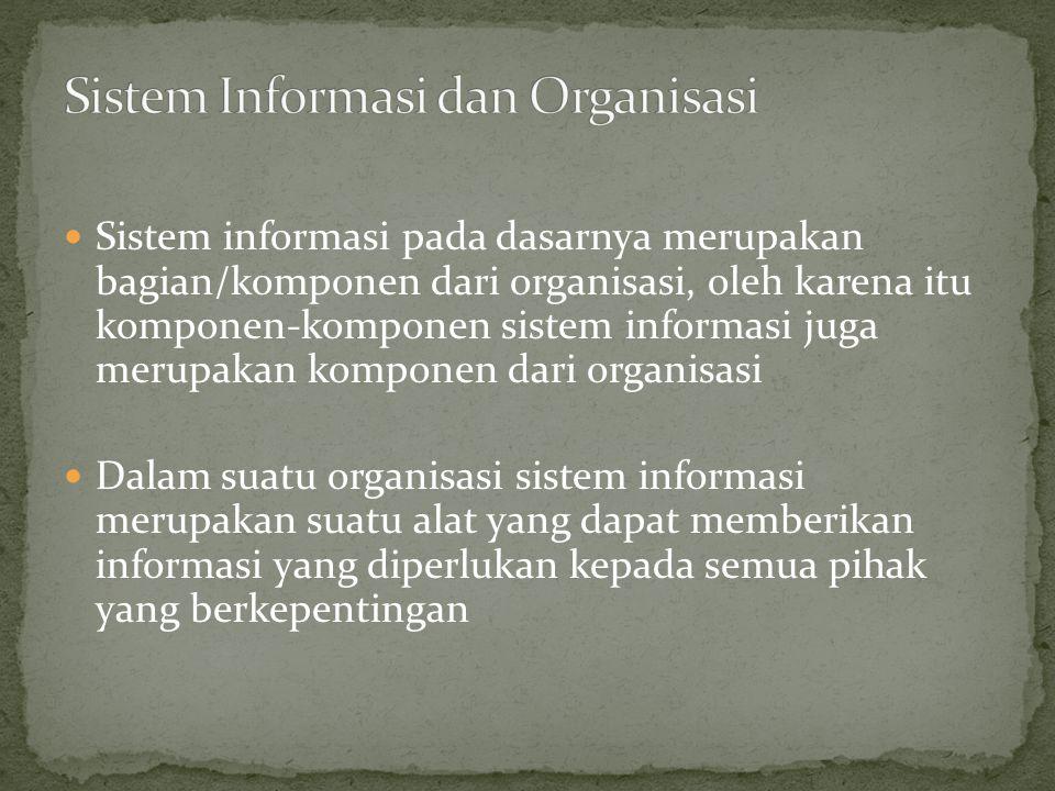 Sistem Informasi dan Organisasi