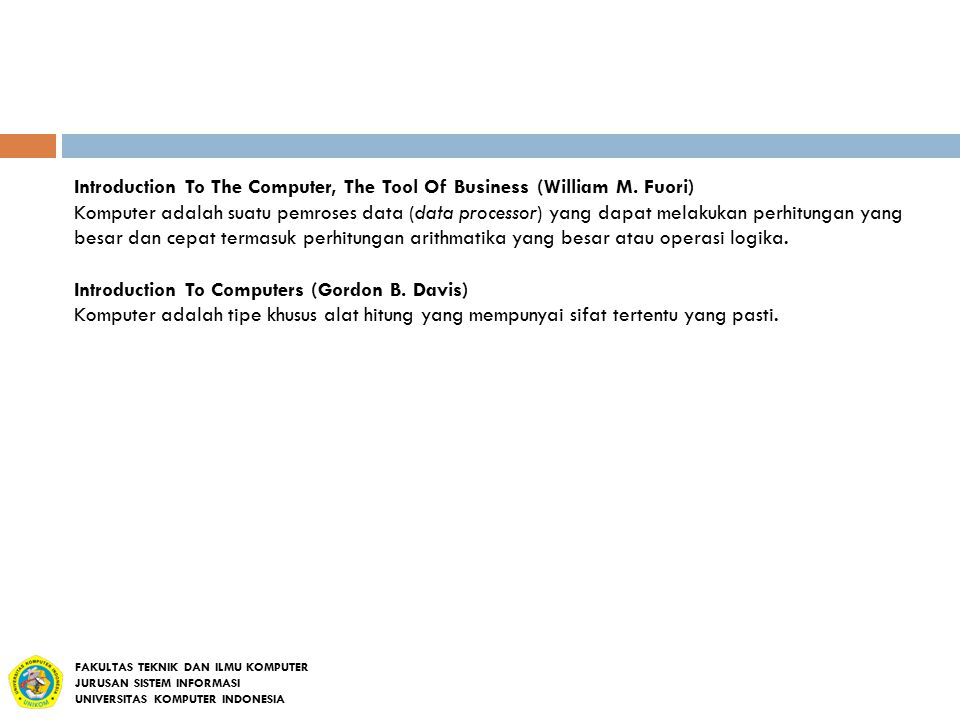 Introduction To The Computer, The Tool Of Business (William M