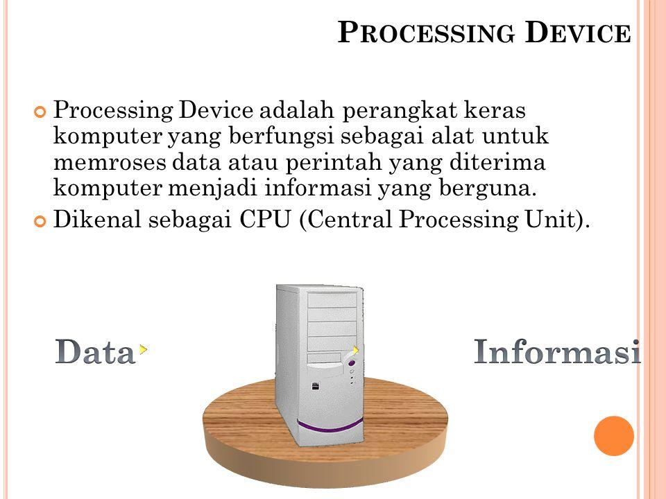 Data Informasi Processing Device