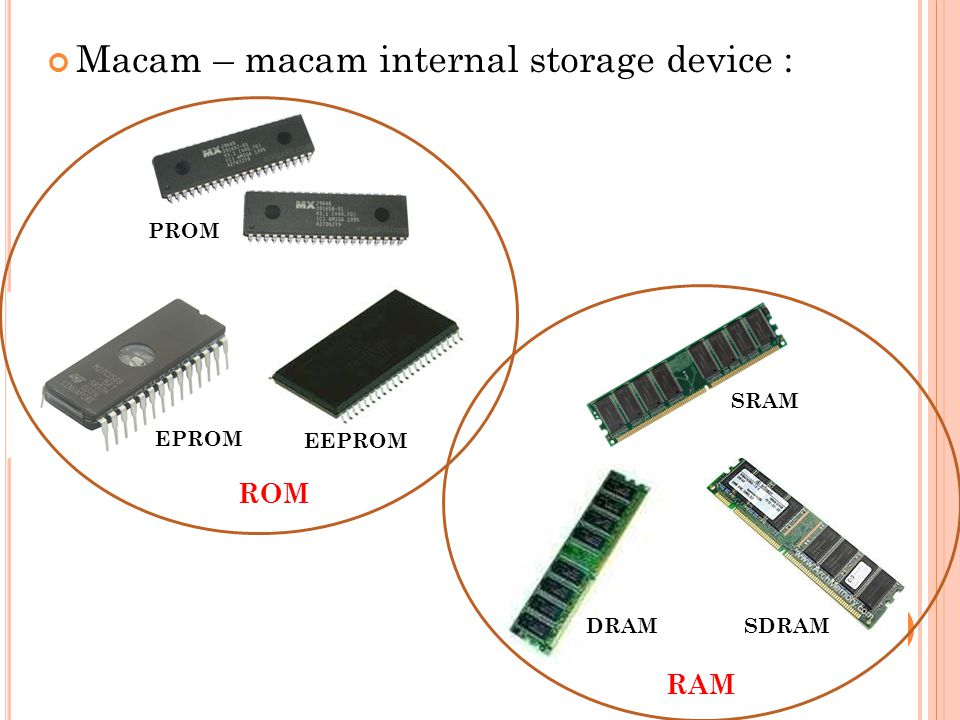 Macam – macam internal storage device :