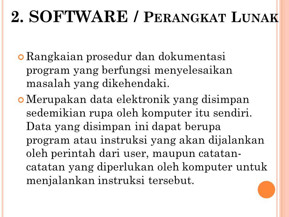 2. SOFTWARE / Perangkat Lunak