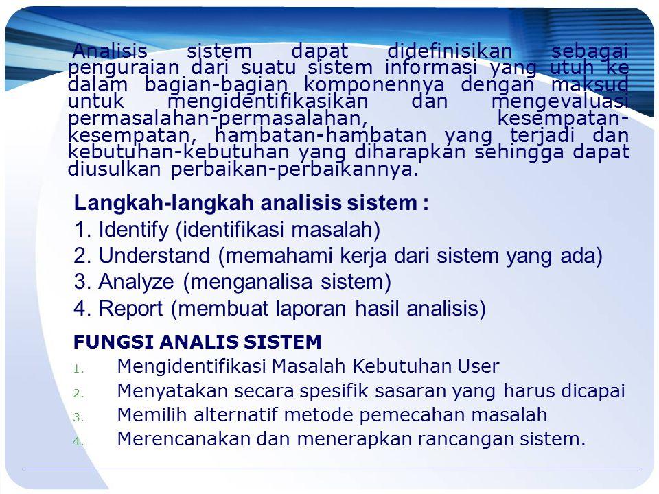 Langkah-langkah analisis sistem : Identify (identifikasi masalah)