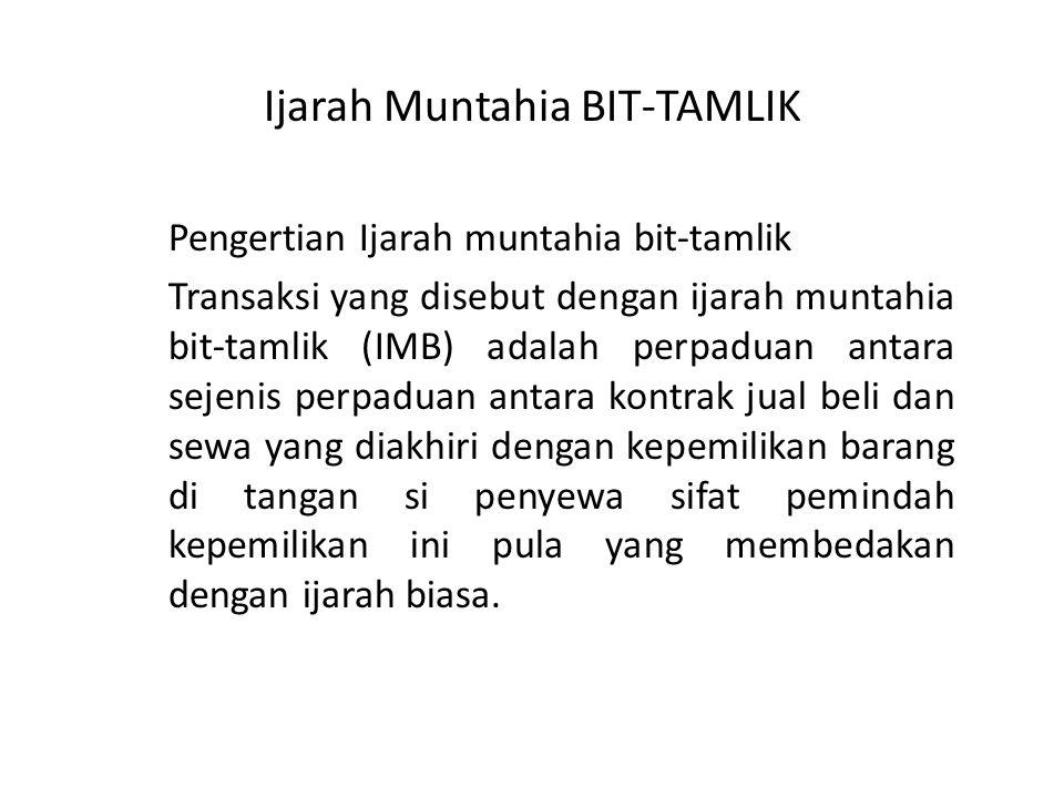 Ijarah Muntahia BIT-TAMLIK