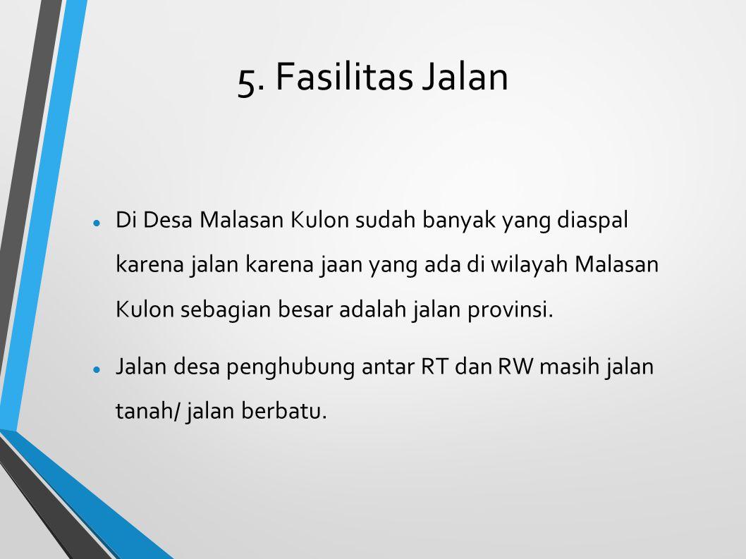 5. Fasilitas Jalan