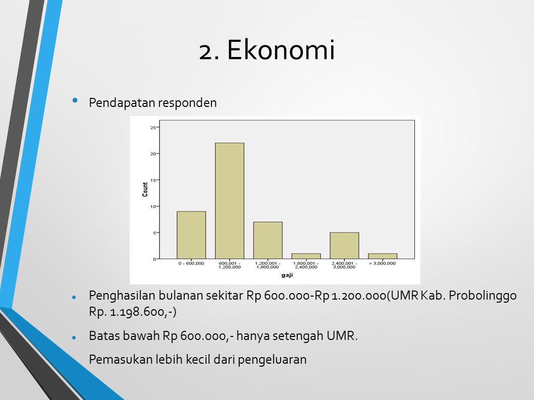 2. Ekonomi Pendapatan responden