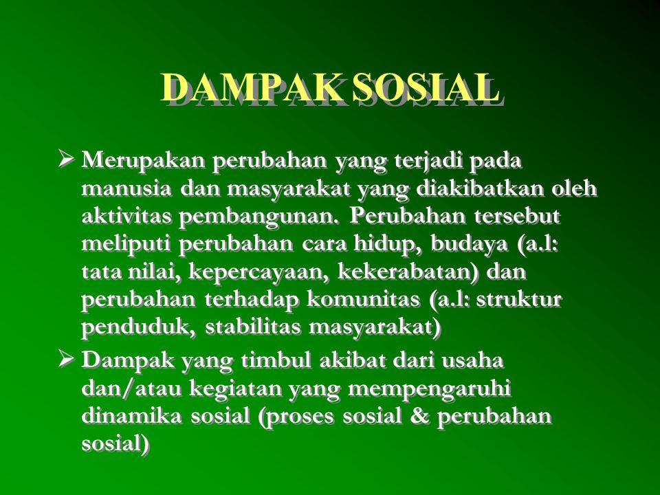 DAMPAK SOSIAL