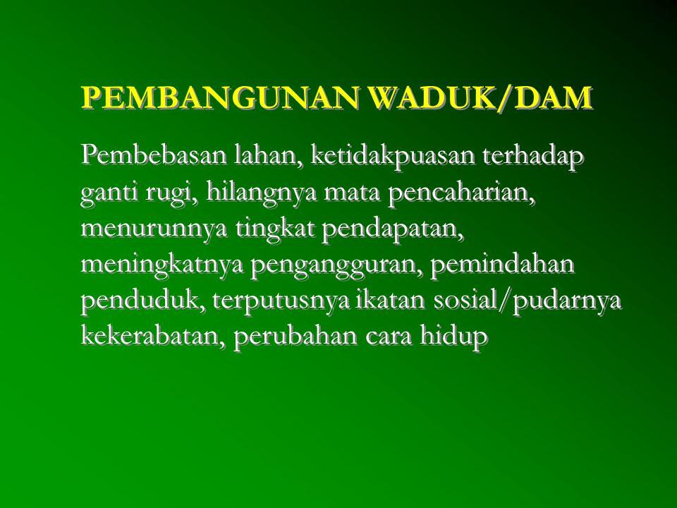 PEMBANGUNAN WADUK/DAM