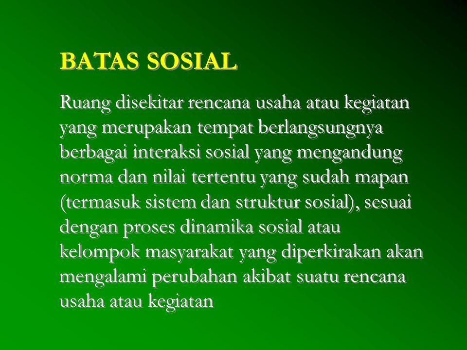 BATAS SOSIAL