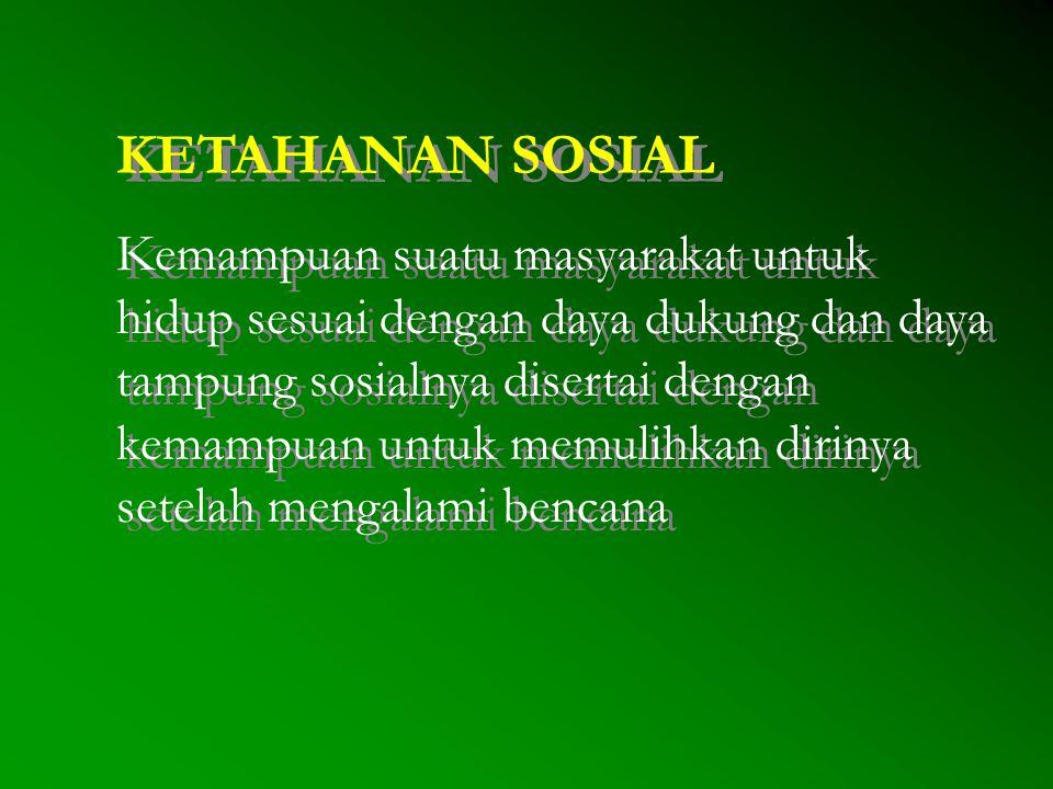 KETAHANAN SOSIAL