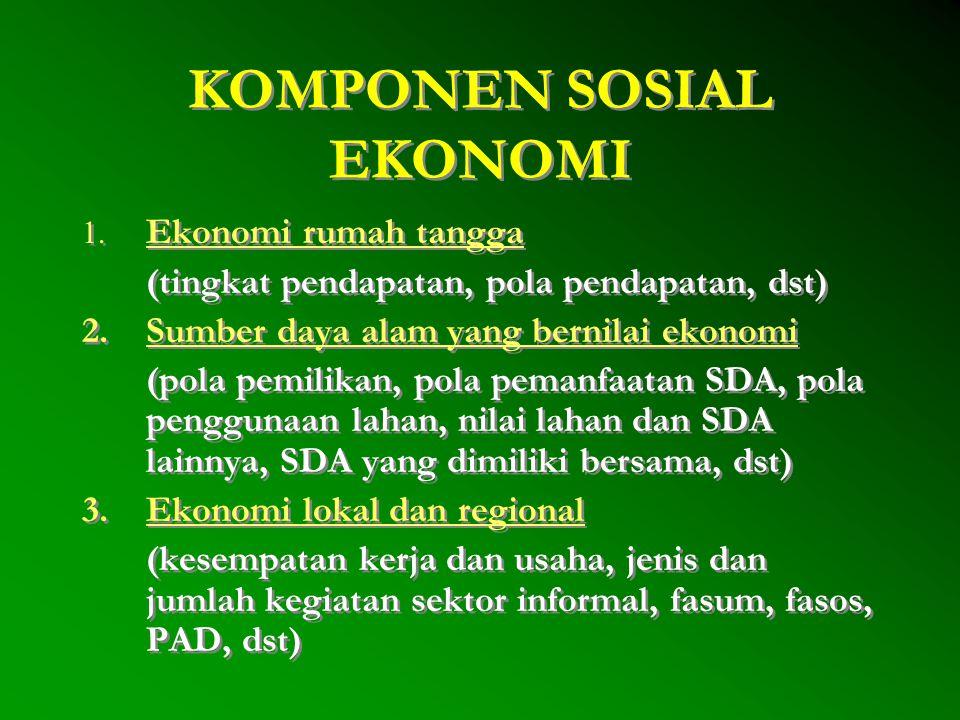 KOMPONEN SOSIAL EKONOMI