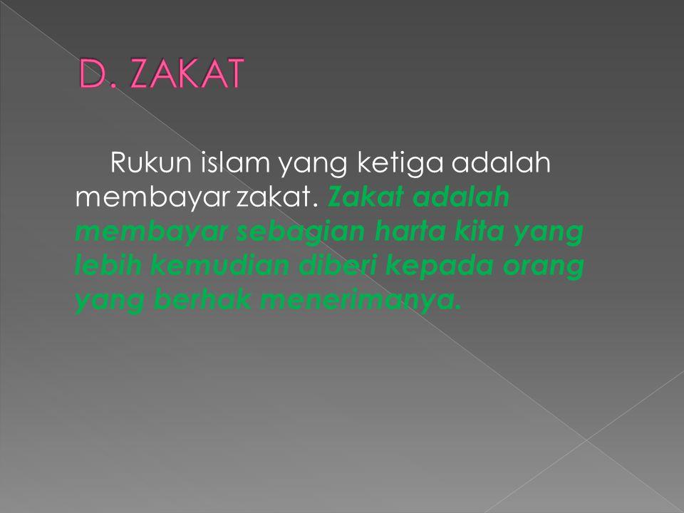 D. ZAKAT