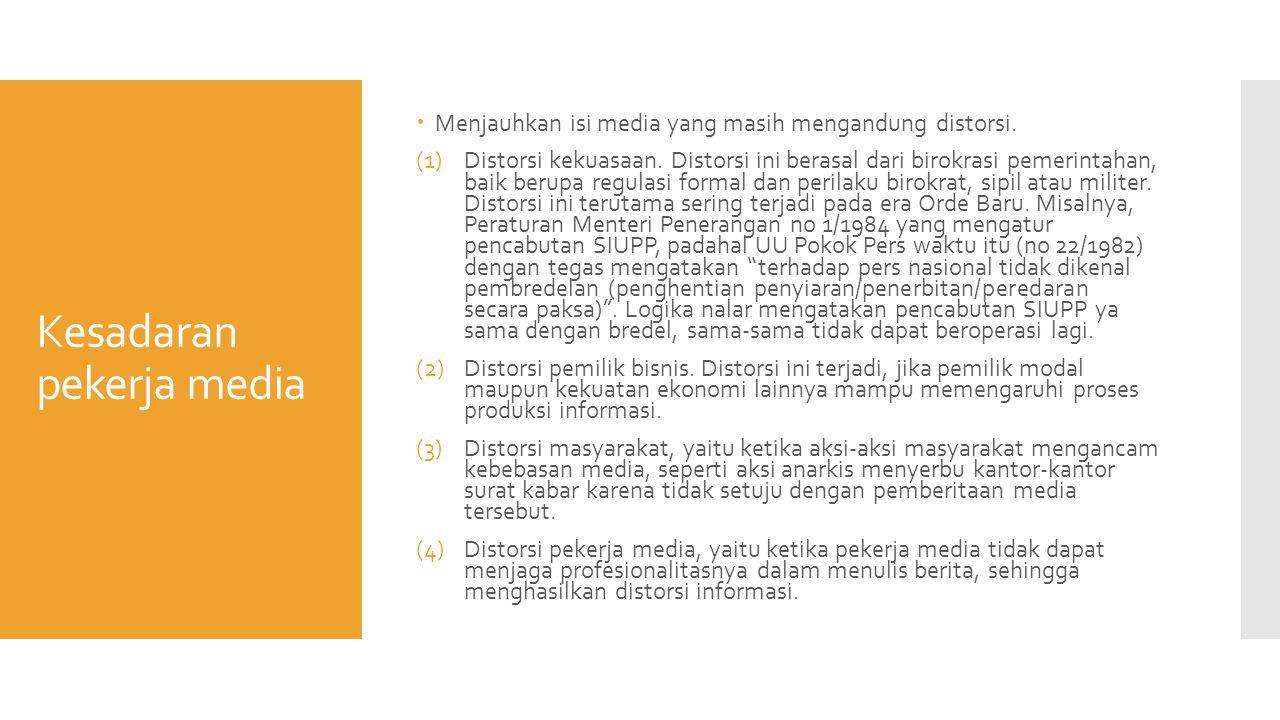 Kesadaran pekerja media