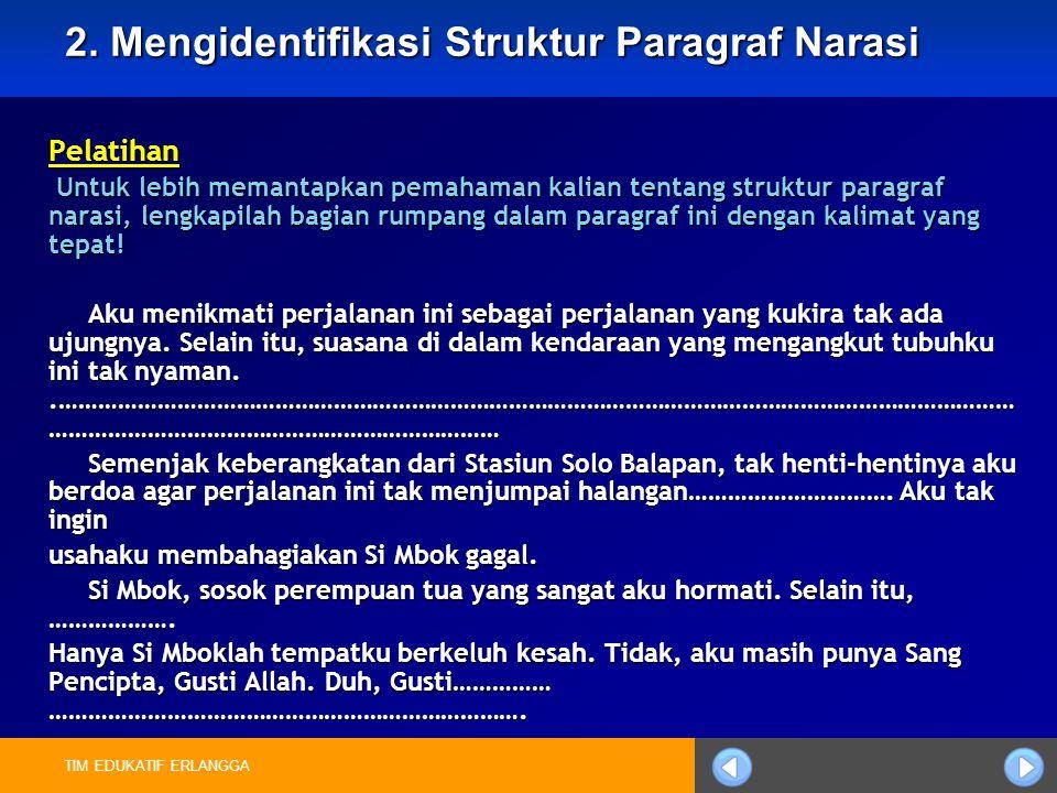 2. Mengidentifikasi Struktur Paragraf Narasi
