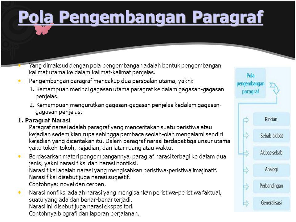 Pola Pengembangan Paragraf