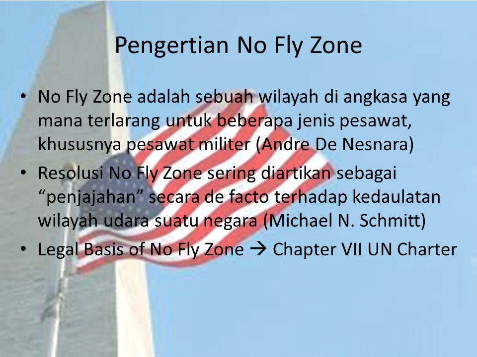 Pengertian No Fly Zone