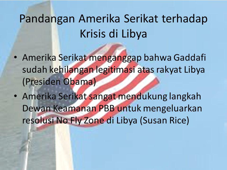 Pandangan Amerika Serikat terhadap Krisis di Libya