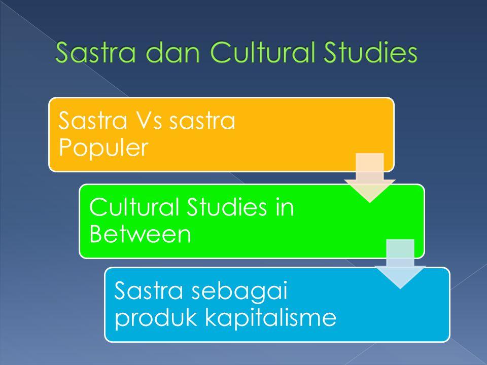 Sastra dan Cultural Studies