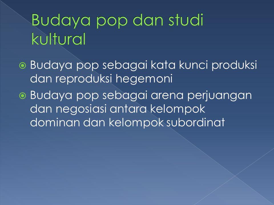 Budaya pop dan studi kultural