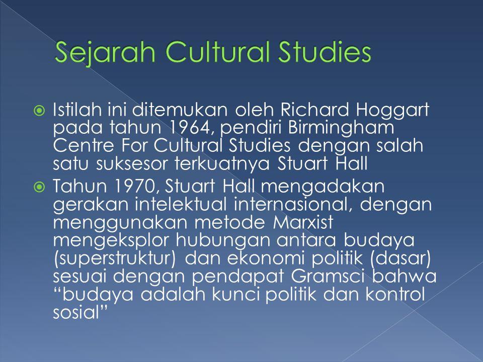 Sejarah Cultural Studies
