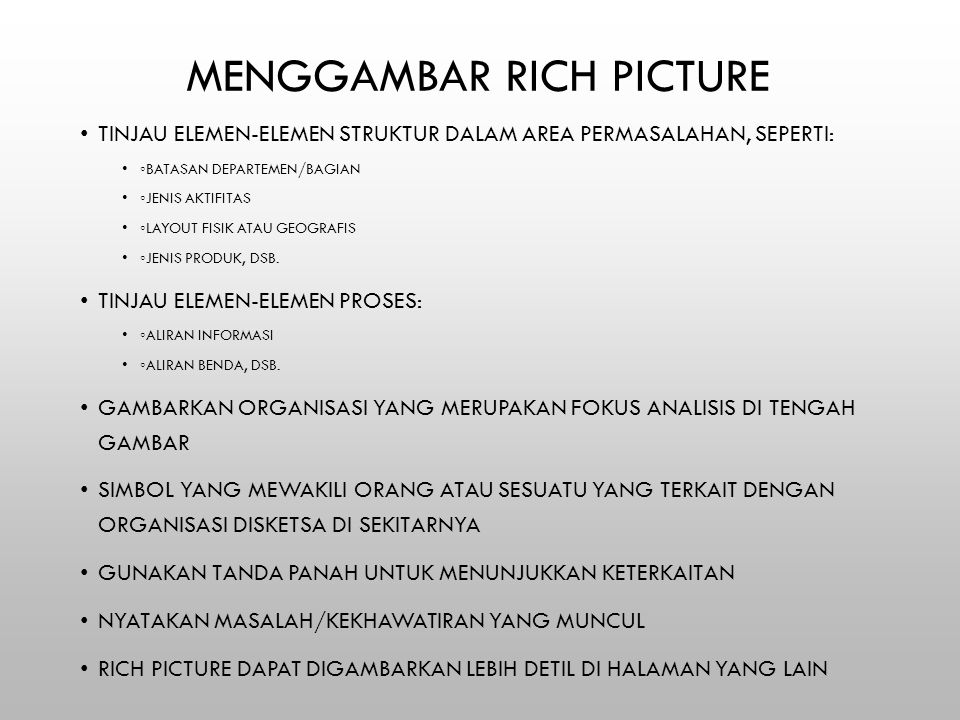 Menggambar Rich Picture