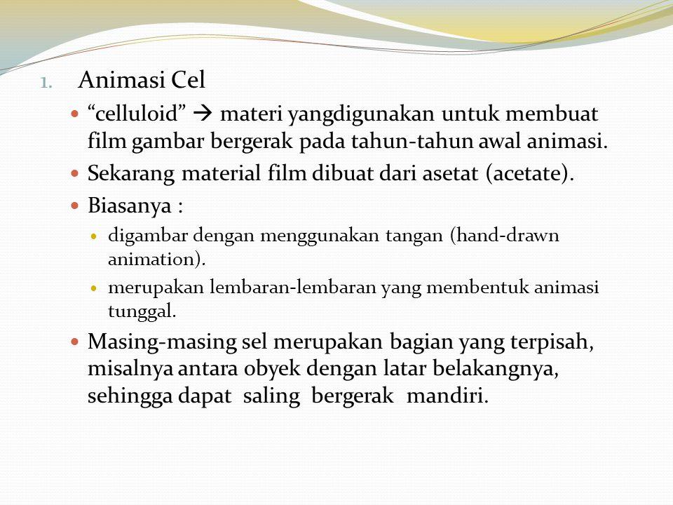 Animasi Cel celluloid  materi yangdigunakan untuk membuat film gambar bergerak pada tahun-tahun awal animasi.
