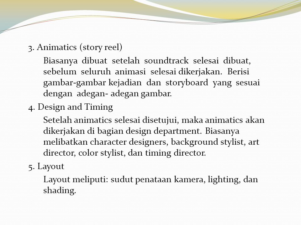 3. Animatics (story reel)