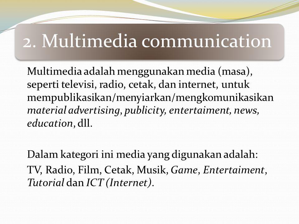 Dalam kategori ini media yang digunakan adalah: