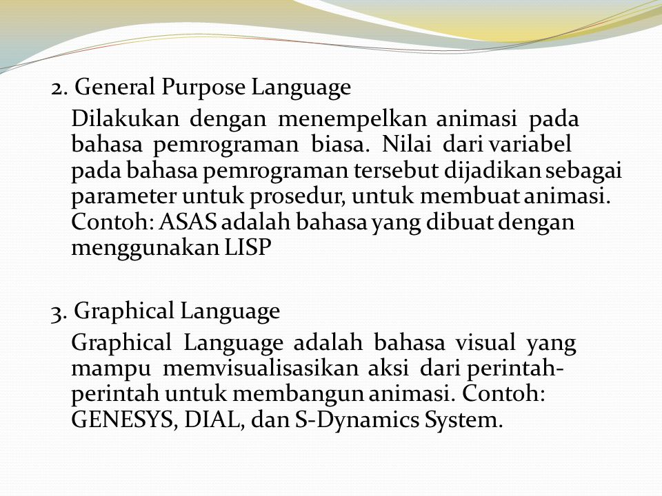 2. General Purpose Language