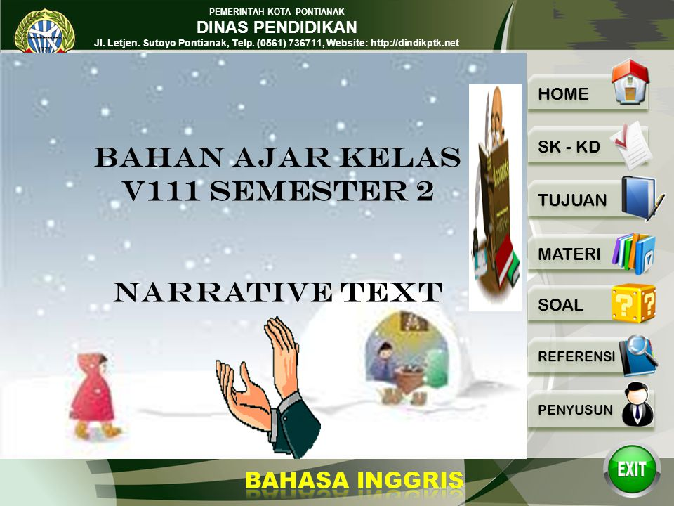 BAHAN AJAR KELAS V111 SEMESTER 2 NARRATIVE TEXT