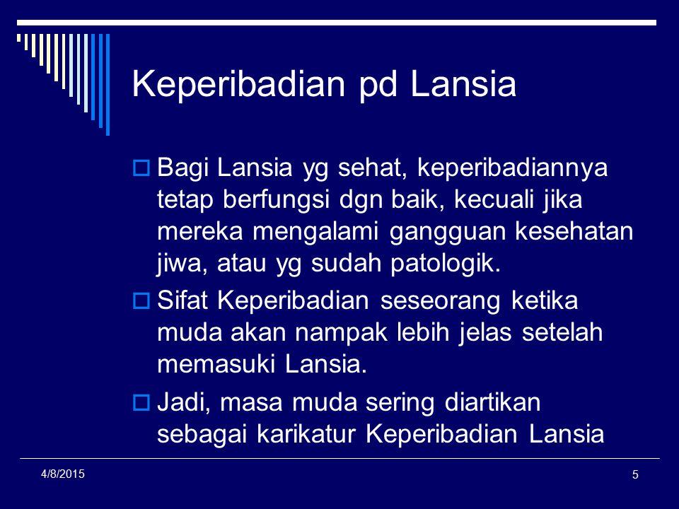 Keperibadian pd Lansia