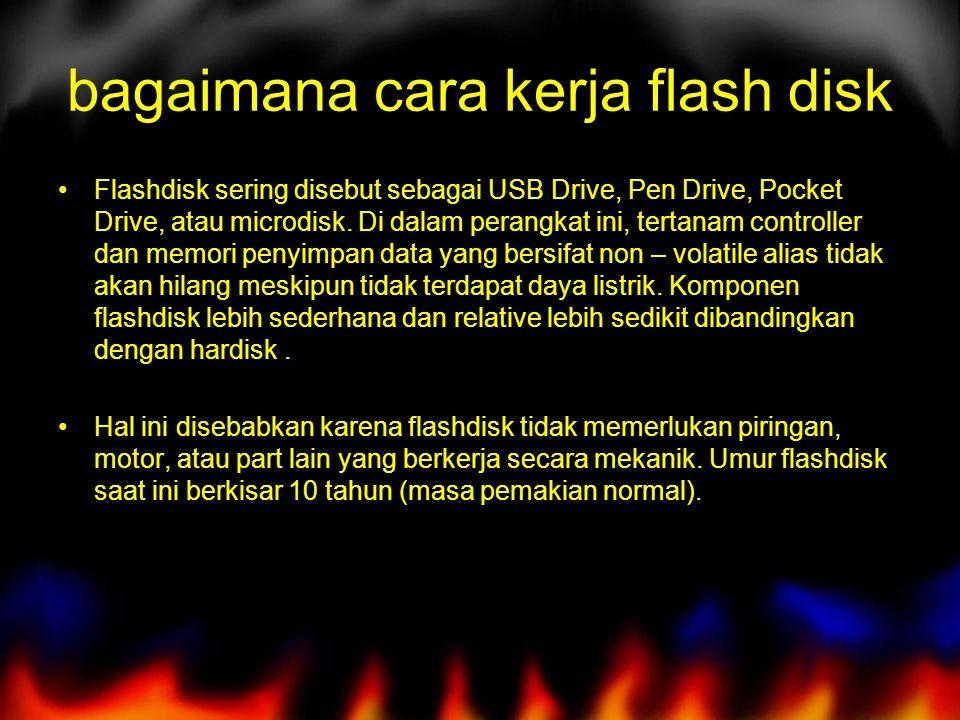 bagaimana cara kerja flash disk