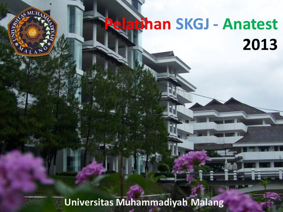 Pelatihan SKGJ - Anatest 2013