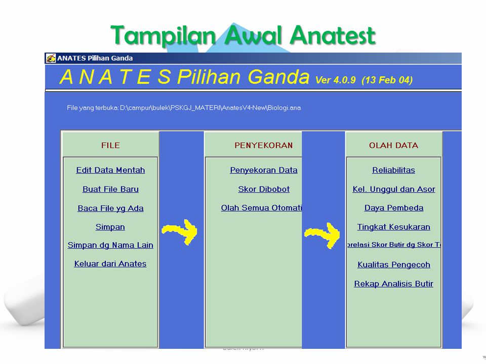 Tampilan Awal Anatest bulek niyaFn