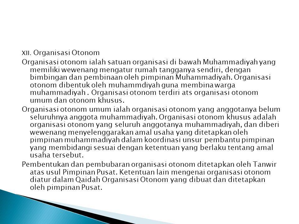 XII. Organisasi Otonom
