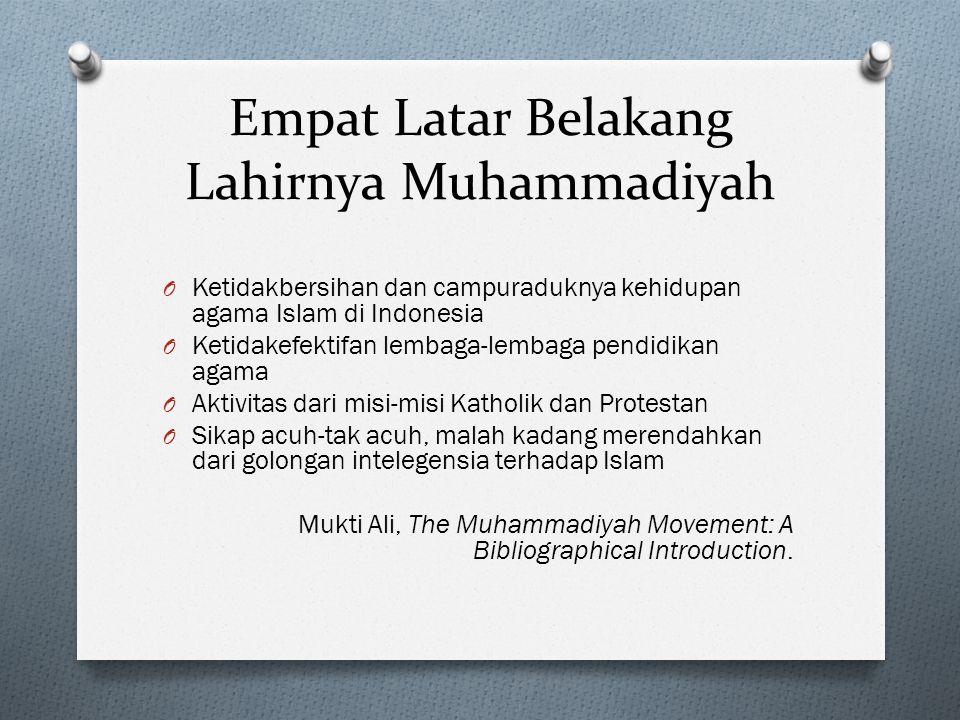 Empat Latar Belakang Lahirnya Muhammadiyah
