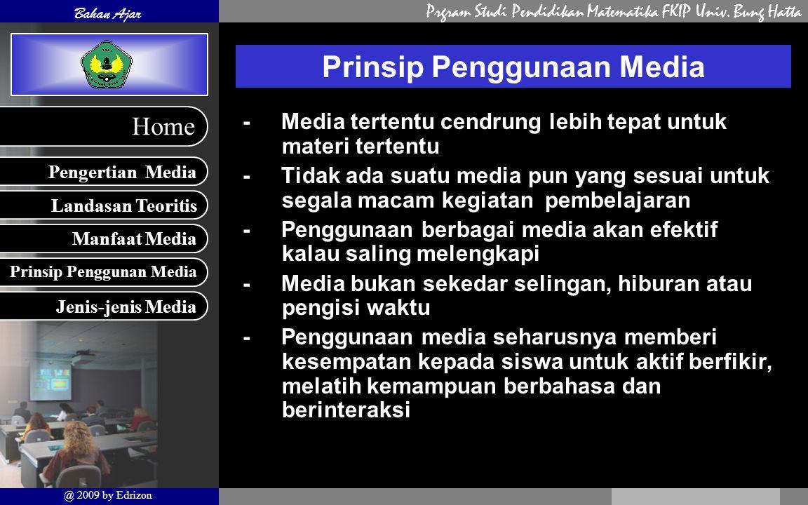 Prinsip Penggunaan Media