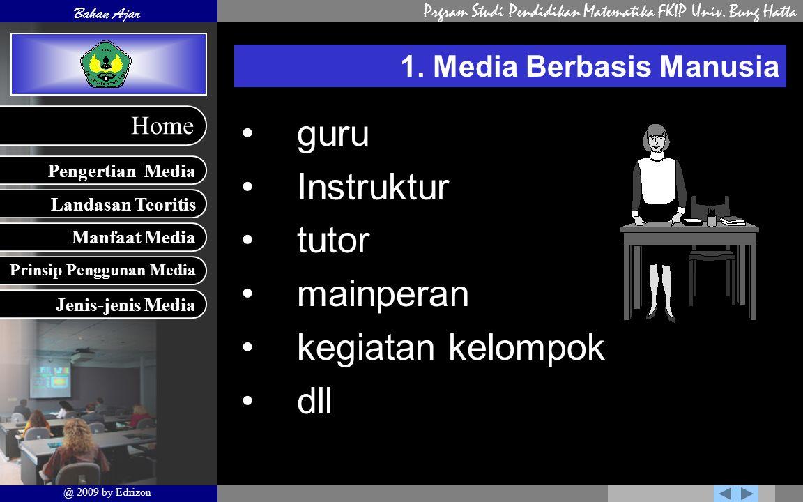 1. Media Berbasis Manusia
