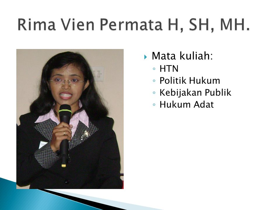 Rima Vien Permata H, SH, MH.