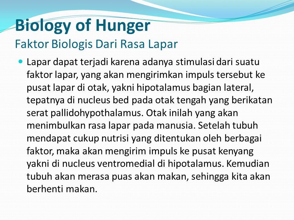 Biology of Hunger Faktor Biologis Dari Rasa Lapar