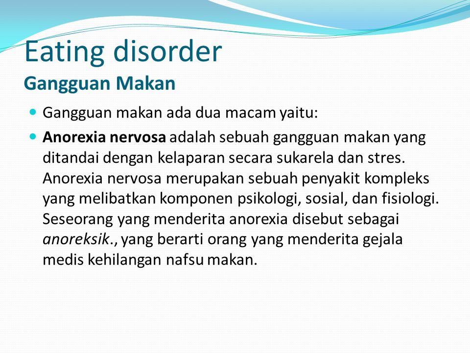 Eating disorder Gangguan Makan