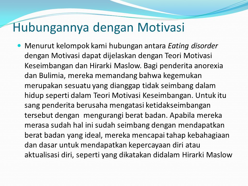Hubungannya dengan Motivasi