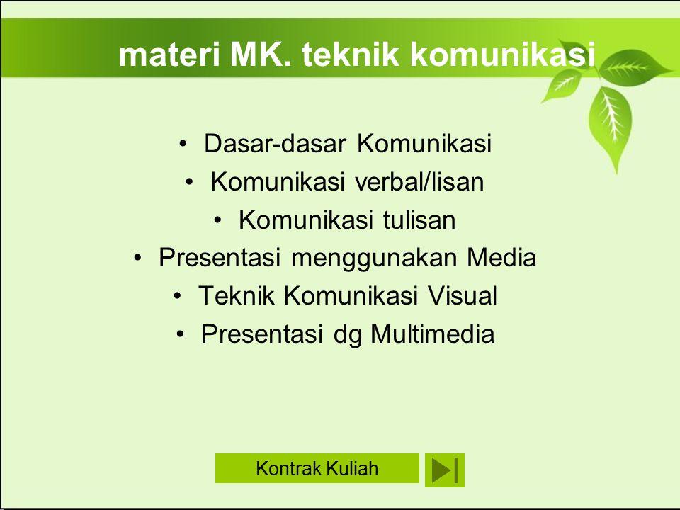 materi MK. teknik komunikasi
