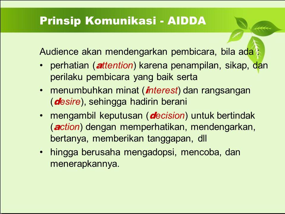 Prinsip Komunikasi - AIDDA