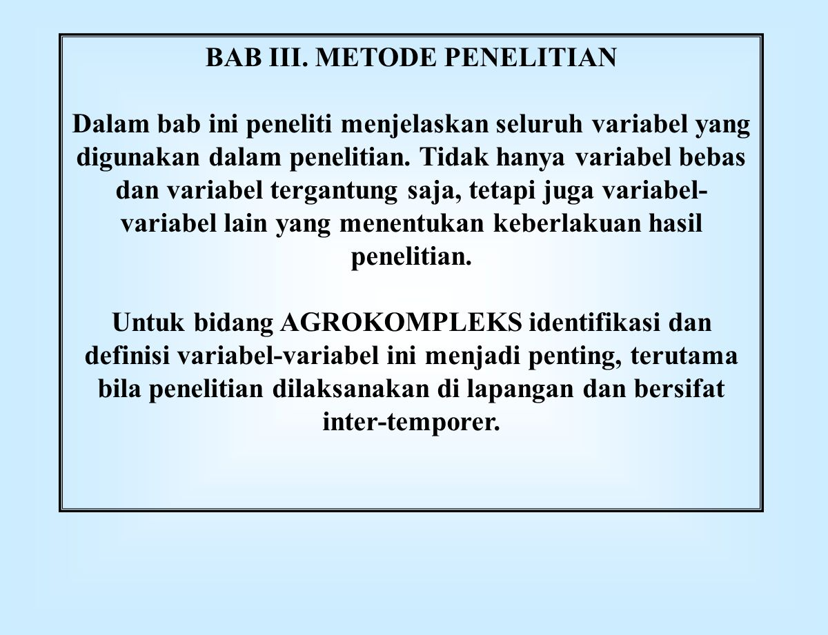 BAB III. METODE PENELITIAN