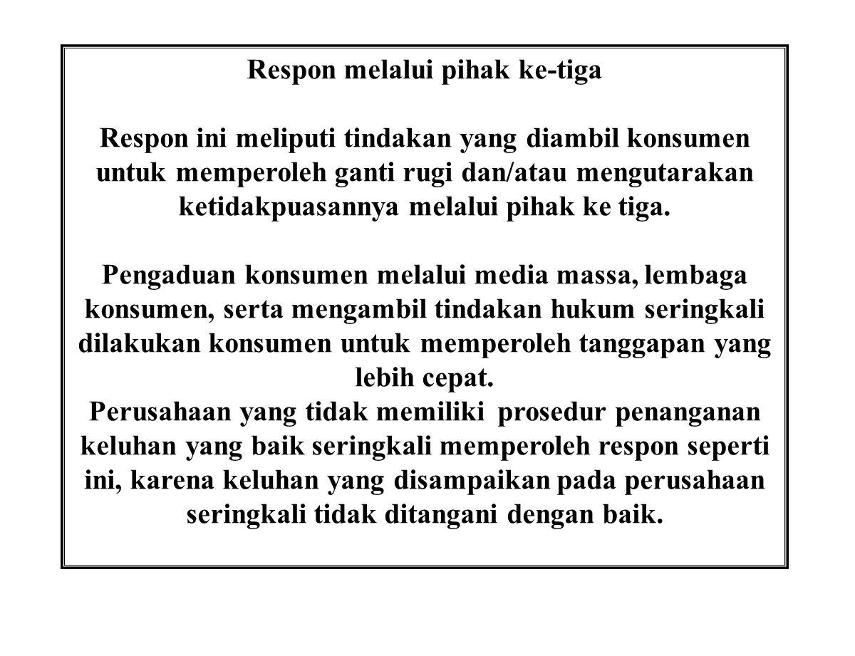 Respon melalui pihak ke-tiga