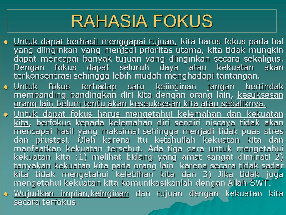 RAHASIA FOKUS